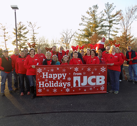 JCB employees at parade