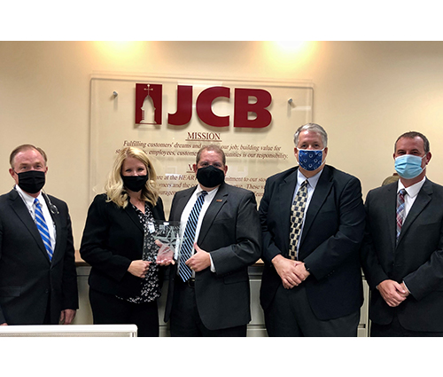 JCB Presented with IBA Five Star Award