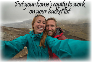 Couple bucket list photo