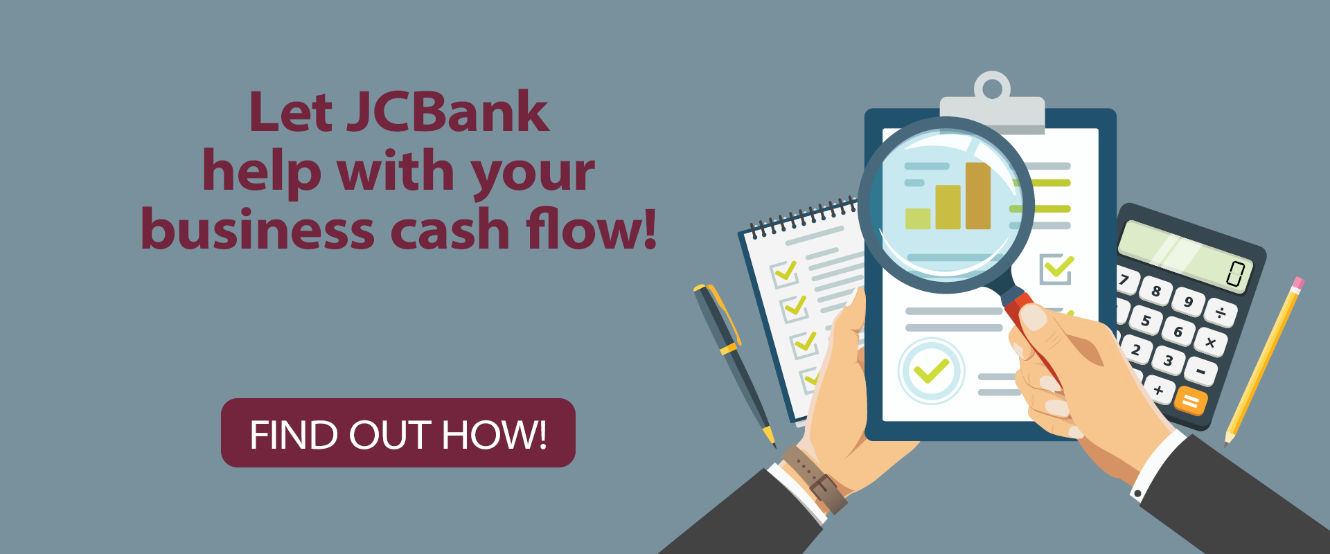 Let JCB help with your business cash flow!