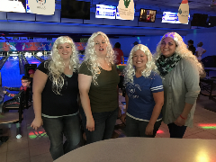 JCB's bowling team at the annual Big Brothers Big Sisters Bowl for Kids Sake fundraiser.<