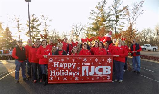 JCB employees participating in the Festival of Lights parade